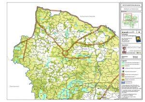 Landkarte Waldtierflächen und Wildkorridore WKA 15 An Der Wild